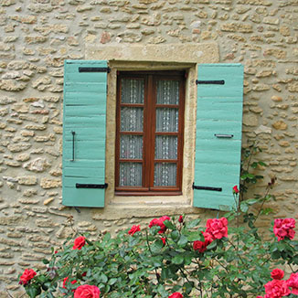 Window at Chateauneuf Du Pape